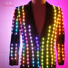 LED Jacket, Men dance LED Light -up Jacket, LED Suits
