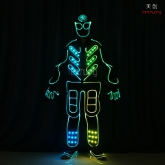 DMX512 Controlled Led Fiber Optic Jumpsuits