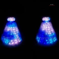 TC-021 led Christmas light up party dress