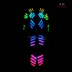 TC-014 dmx tron dance lights led performance costume