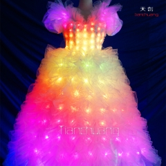dance dress programmable light up dress led light dresses