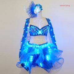 Programmable LED Light Costume Sexy, LED Belly Dance LED Isis