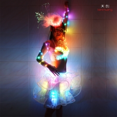 Programmable LED Latin dance dress,LED Pole Dance Halloween Costume