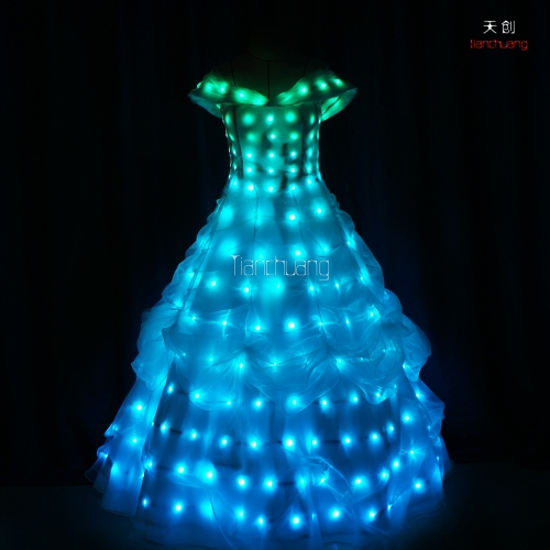 Full color LED light up dress for dance performing