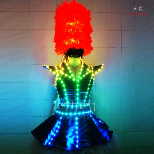 Programmable Light Up Tutu Dress, Wireless DMX512 LED Dj Costume