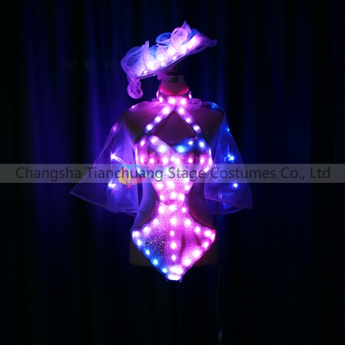 Girl'S Sexy dancer LED Costumes,LED Dresses