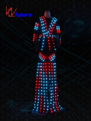 Full color LED stilts robot costumes for women