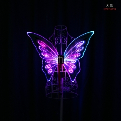 LED light up butterfly wings,glow in the dark dance props