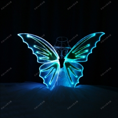 Remote control light up butterfly wings performance glowing dance props