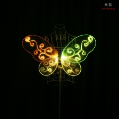 LED light up butterfly wings,LED dance props for stage performance