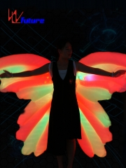 LED inflatable butterfly wings,LED dance props for stage performance