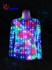 Remote controlled LED T-shirt dance costumes for adult