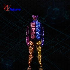 433 Wireless controlled LED tron dance costumes for team dance