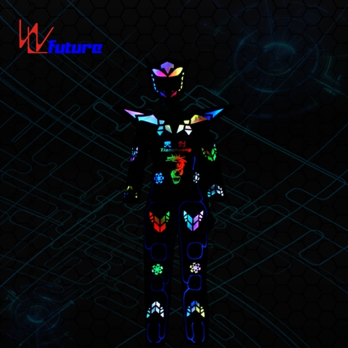 LED Cyborg Robot Warrior Dance Costume,wireless controlled LED clothing
