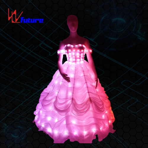 Remote controller LED light up prom dresses for dance performing