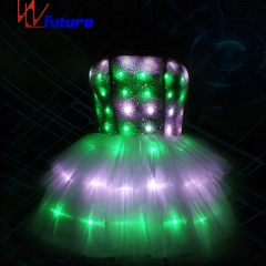 Remote control LED tutu skirt glowing women dresses party wear