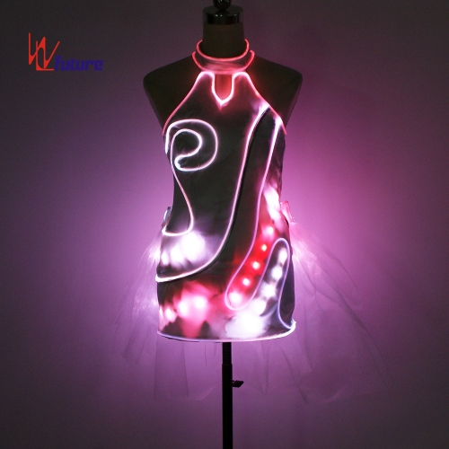 Remote control LED cheongsam dress costume,glowing evening dresses for party