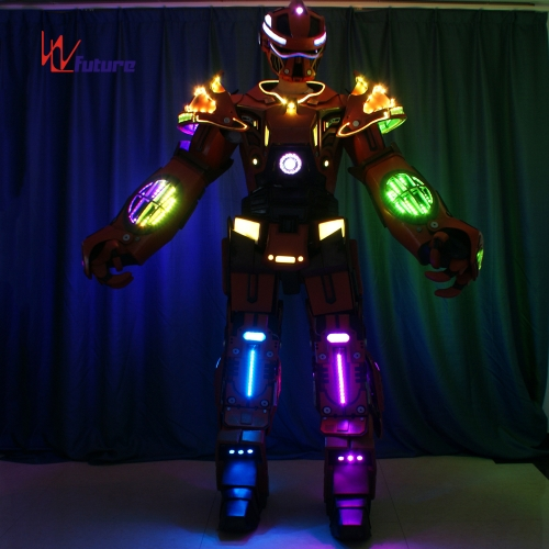 Future Creative Huge LED robot dance costumes,transformer LED outfit for performance