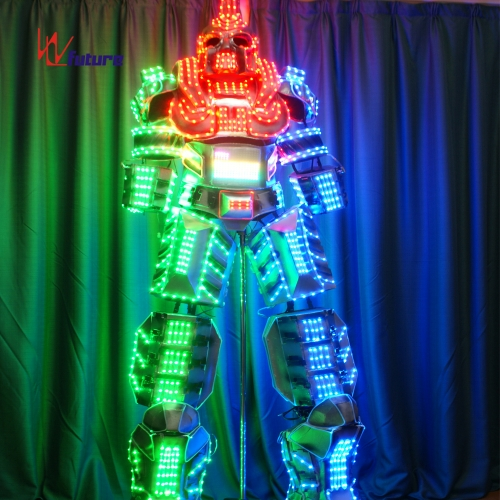 Future High-quality LED stilts walker robot suit costume,transformer LED clothing show