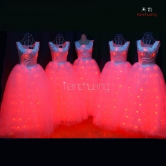 Amazing LED Light Up Long Dress,Stage Performance Costume For Women