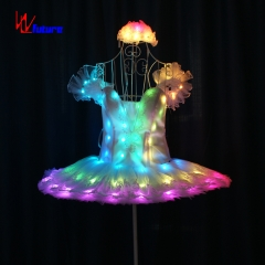 Professional LED ballet costume glowing tutu dress performance wear