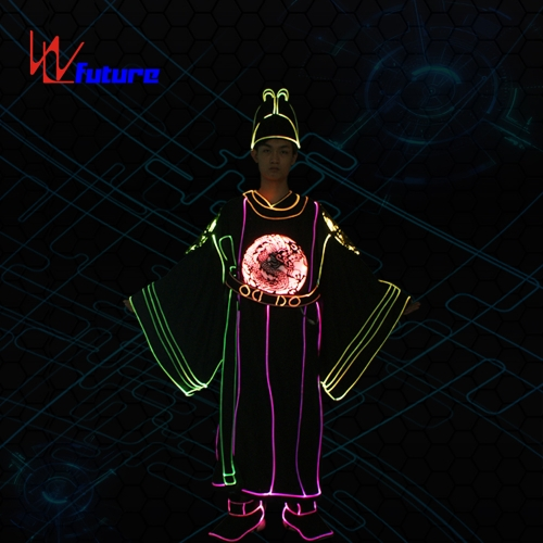 Future programmable LED clothing,light up group dance costume for men