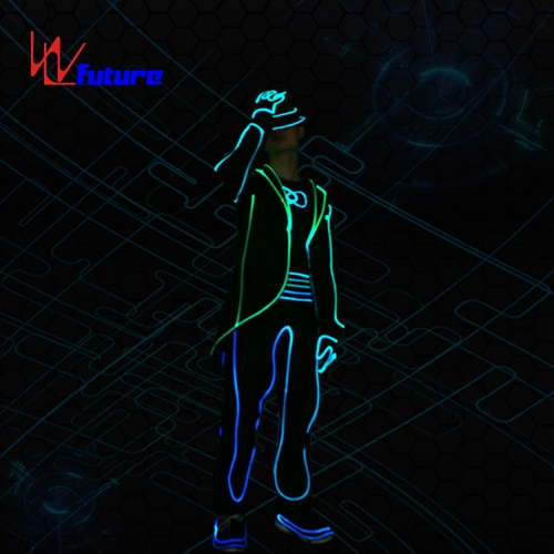 Future new style MJ LED tron suit costume for group dance,fiber optic clothing stage show