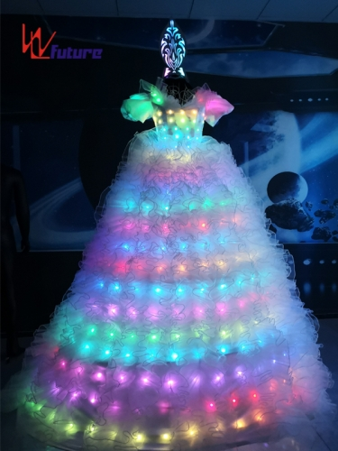 Remote control LED Stitlts Walker Costume for Women,LED Dress for Party