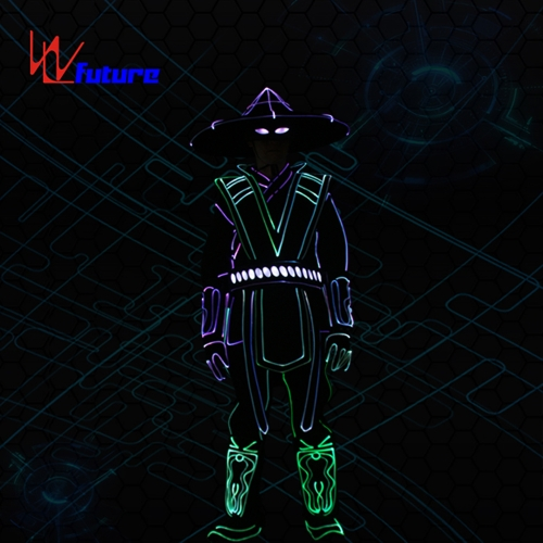 DMX Wireless control LED tron dance raiden costumes for group dance men