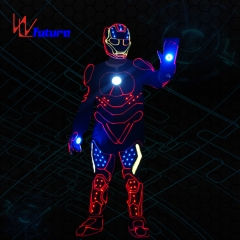 Future wireless control LED iron man dance costumes,group dance robot clothing performance wear