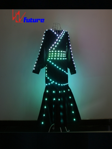 Chinese ethnic style LED dress light up costume for dance show