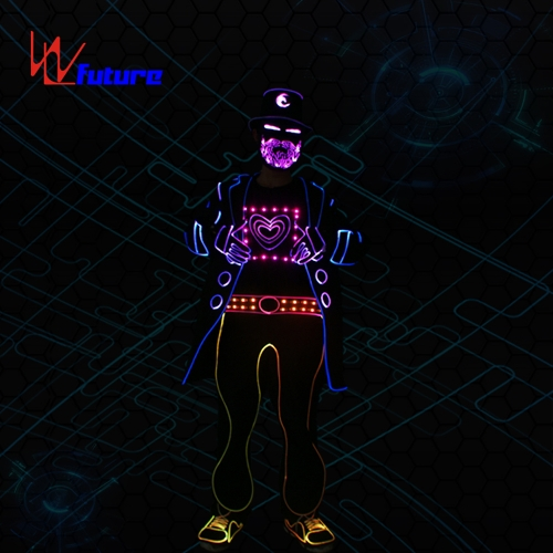 Programmable Light balance LED tron dance costumes for leading actor