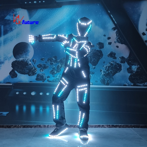 DMX Wireless control LED tron dance costumes for group dance