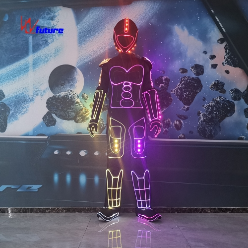 DMX Wireless control LED tron dance suit group dance costume sync controlled