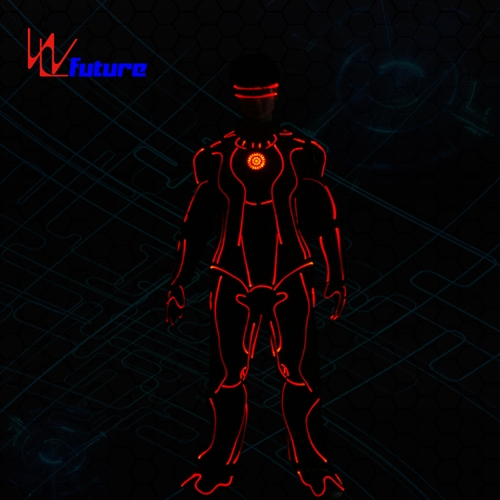 Wireless control LED Iron man tron dance costumes,group suit costume performance wear