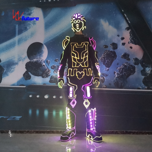 Fantastic LED Light Up Costume For Dance Show, Fiber Optic Lights Suit For Men
