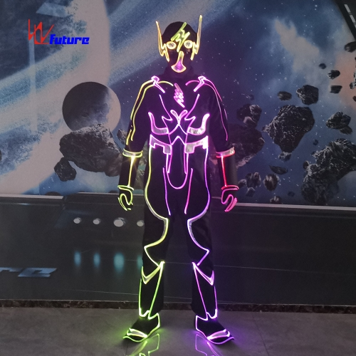 DMX Wireless controlled special LED dance costume halloween party luminous clothes