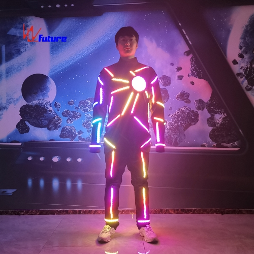 433 wireless sync controlled LED tron dance suit group dance costume
