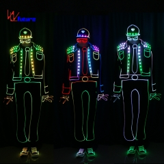 Wireless control Got Talent Show Lightbalance LED tron costumes for group dance easiest program software