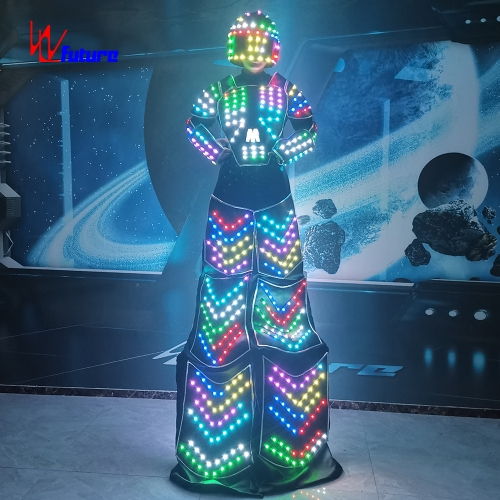 New Design LED Stilts walker Costume Glow in the Dark Suit for Event